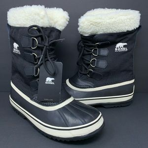 SOREL NL 1495-011 Fur Carnival Boots Black Winter